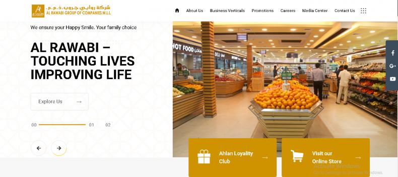 Alrawabi website design project Qatar