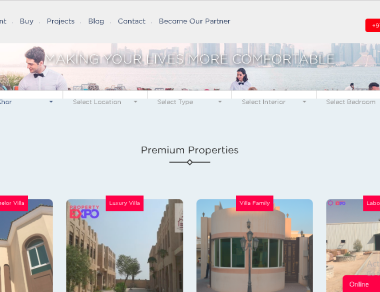 Website Design – Property Expo Qatar