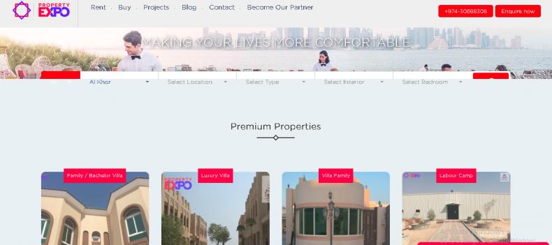 Property Expo website development Qatar